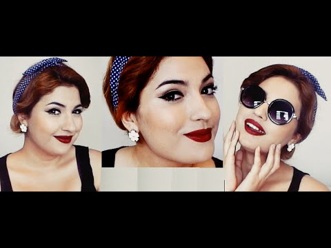 Maquillaje Y Peinado Pin Up Inspirado En Los Anos 50 Youtube
