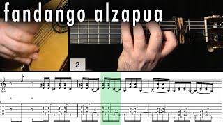 Flamenco Guitar 102 - 23 Fandango Alzapua