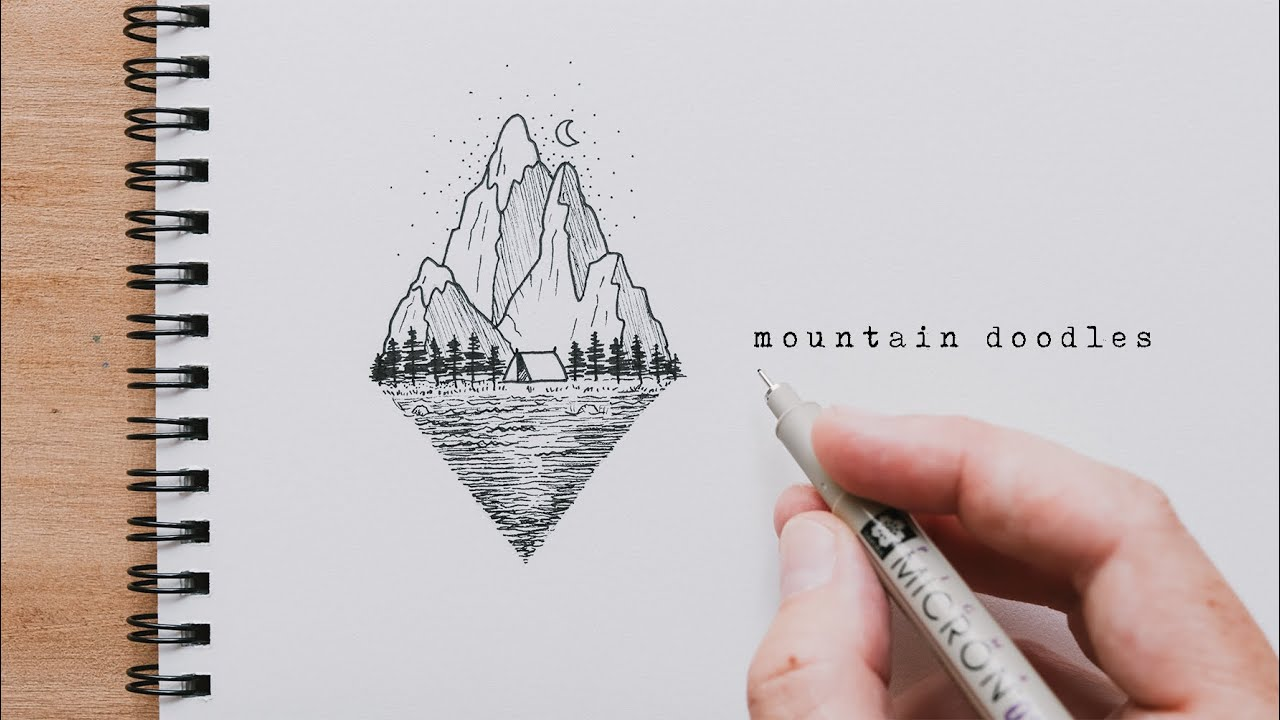 How To Draw Mountains | Mountain Doodles For Beginners