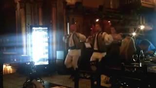 Romanian folk dance in Caru' cu bere restaurant