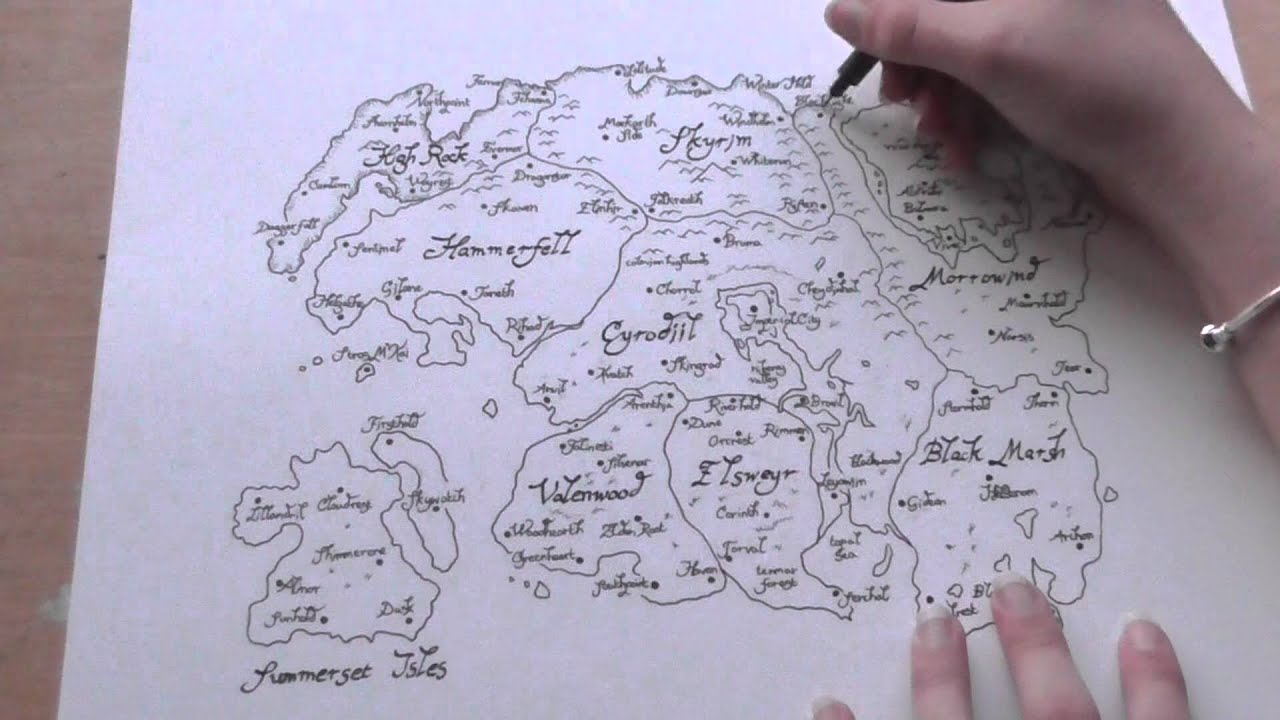 The Elder Scrolls: Map Of Tamriel Time Lapse - YouTube