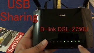 USB Sharing Port in D-link DSL-2750U router