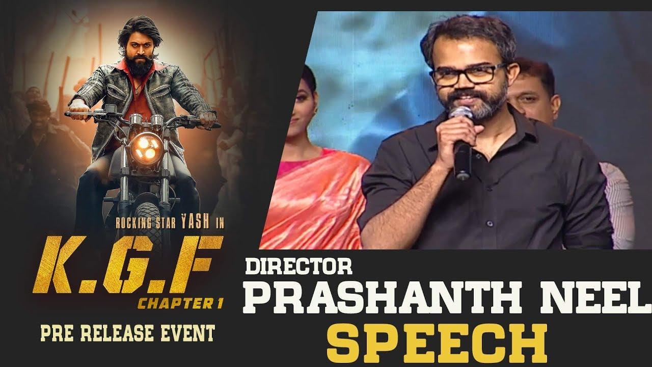 Director Prashanth Neel Speech At Kgf Movie Pre Release Event Youtube