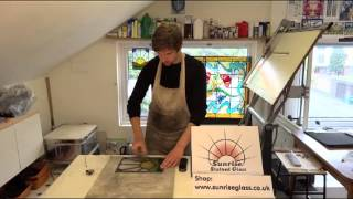 Four: Cementing and Polishing - Stained Glass Leaded Window Making Techniques