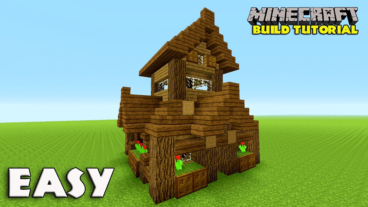 Minecraft how to build a small survival house tutorial easy survival house medieval 2016 youtube