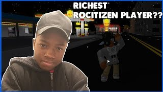 IM THE RICHEST ROCITIZEN PLAYER? | Roblox Rocitizen