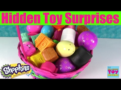 Thumbnail: Giant Basket Of Surprise Eggs Opening | Shopkins Squinkies Disney Fashems My Little Pony | PSToyRevi
