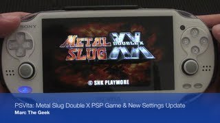 PSVita; Metal Slug Double X PSP Game & New Settings Update