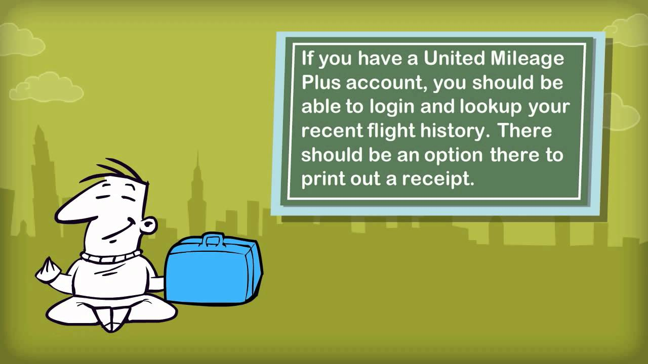 How do I get my baggage receipts for United airlines? (USA)