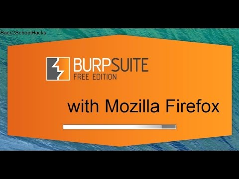 How to setup Burp suite with mozilla firefox