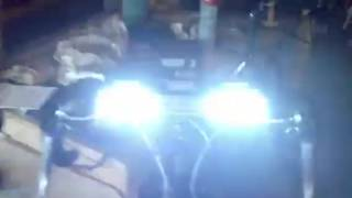 My bike with police lights and Siren on it