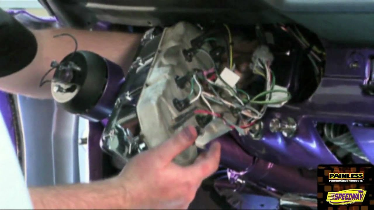 73 Mustang Dash Wiring Diagram Painless Performance 65 66 Harness Installation Video Part 2