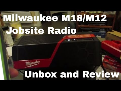 Milwaukee M18 M12 Job Site Radio Unboxing and Review