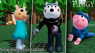 ROBLOX PIGGY WILLOW'S FLOSSING AND SWAPPING CHARACTER ANIMATIONS!!