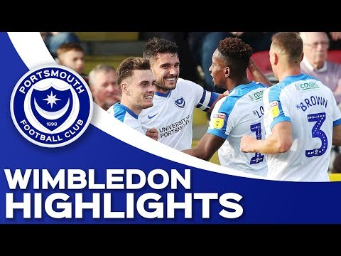 Highlights: AFC Wimbledon 1-2 Portsmouth