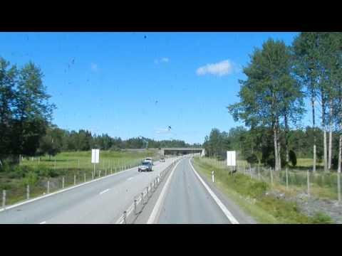 Stockholm - Bus 676 - Tekniska Högskolen to Norrtälje (partial journey) 2015 08 16