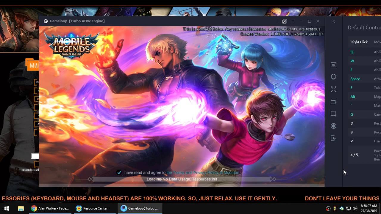 mobile legends pc auto log-out (gameloop)