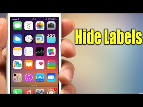 hide labels ios 8 jailbreak cydia tweak