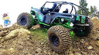 RC ADVENTURES - THiS is COOL!  Animated Driver in Brushless Buggy on Ultra 4 Race Course