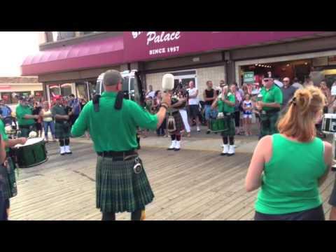 Irish Bagpipes Parade Wildwood, NJ (2013)