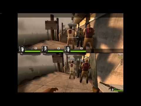 Coop Split Screen Left 4 Dead 2 / Safe Room Fight / The Parish