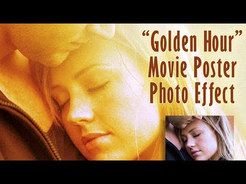 "Photoshop: How to Create a ""Golden Hour"", Movie Poster Photo Effect thumbnail"