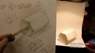 Обучение рисунку. Введение. 4 серия: призма в ракурсе