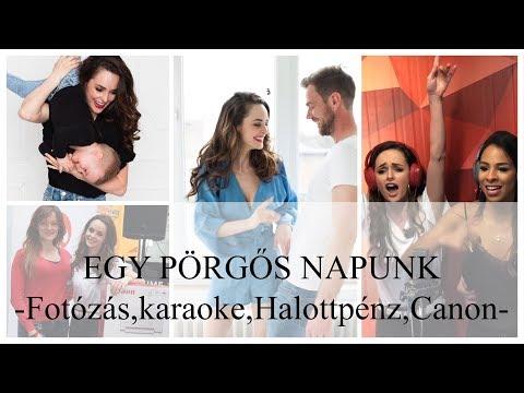 EGY PÖRGŐS NAPUNK VLOG - Fotózás, Halottpénz, karaoke, Canon -KisCsalád VLOG
