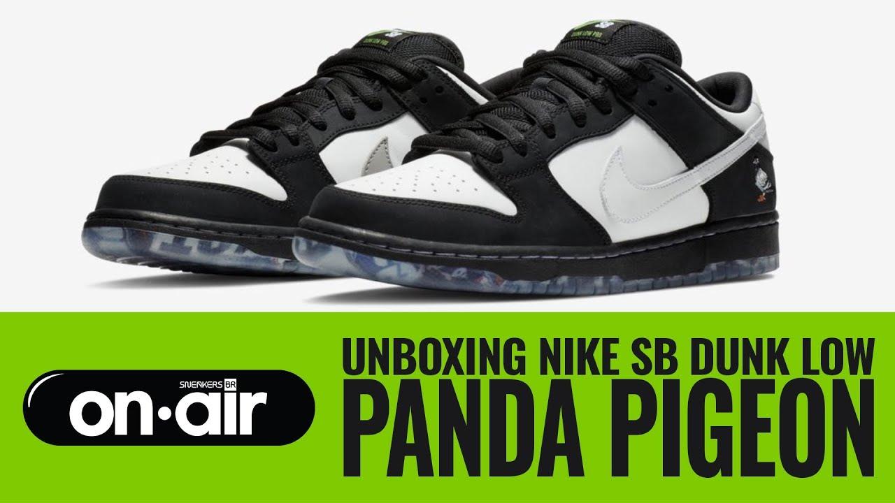 Movimiento Hacer un muñeco de nieve Maryanne Jones  SBROnAIR Vol. 116 - Unboxing Nike SB Dunk Low 'Panda Pigeon' - YouTube