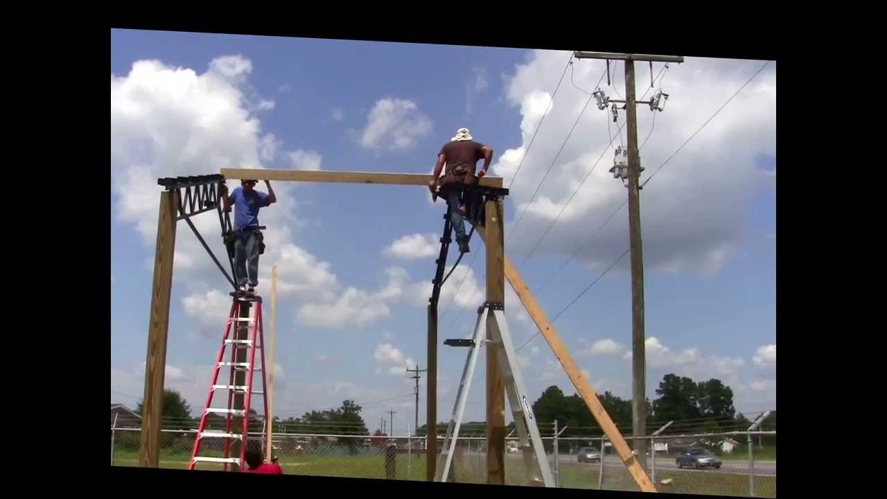 20x40x12 Steel Truss Pole Barn Part 2 How We Install
