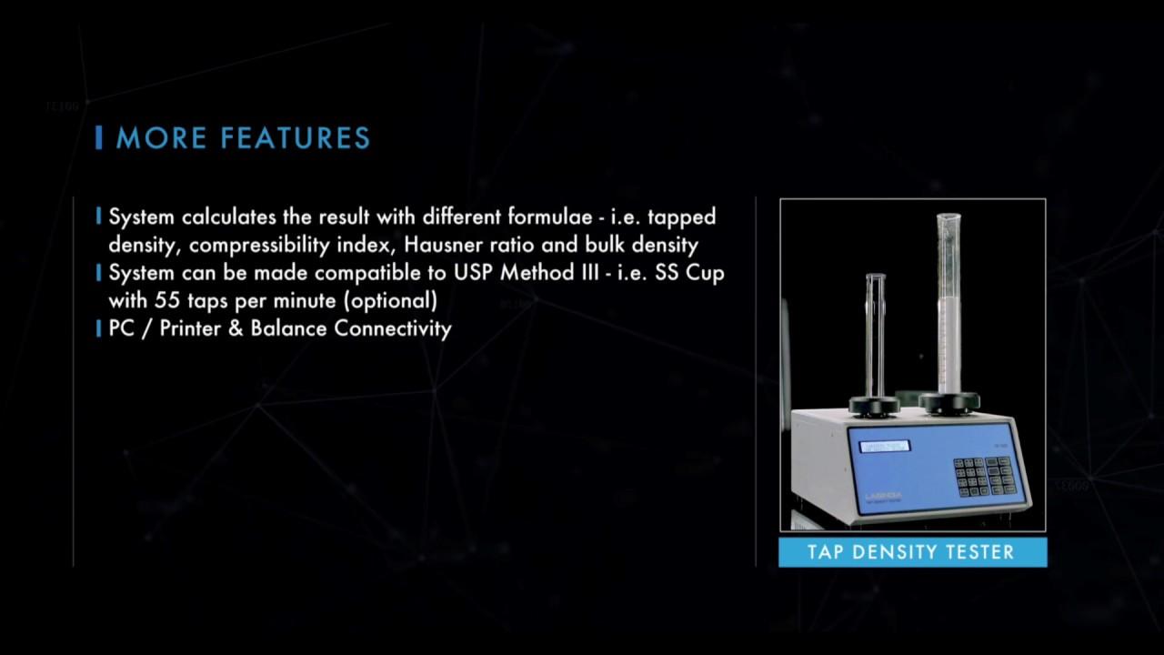 Tap, Bulk Density Tester & Apparatus