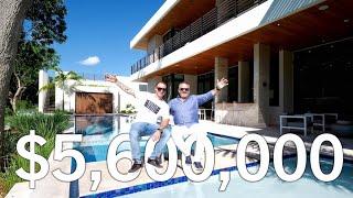 $5.6 MILLION DOLLAR Miami MANSION House Tour in Ponce Davis   Miami, Florida