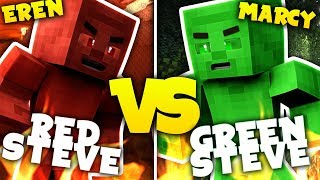 GREEN STEVE VS RED STEVE - Minecraft ITA - parte 2 w/ ErenBlaze