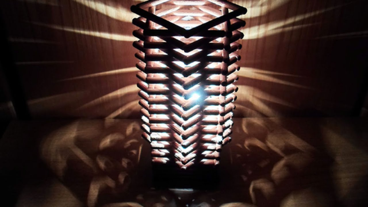 Make a cool geometric dowel lamp home guidecentral - Lampade da tavolo fai da te ...