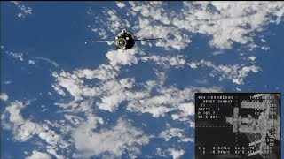 Progress MS-10 docking to the ISS