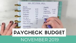 Paycheck Budget With Me | November Paycheck Budget #2