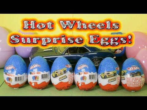 HOT WHEELS 15 Kinder Hot Wheels Surprise Eggs a YouTube Surprise Egg Video