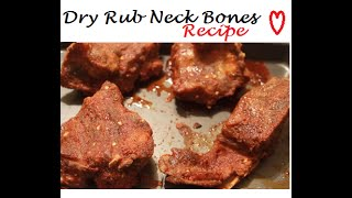 Crock Pot Dry Rub Neck Bones Recipe ;-) | How to Cook Neck Bones | Teresa Lawson