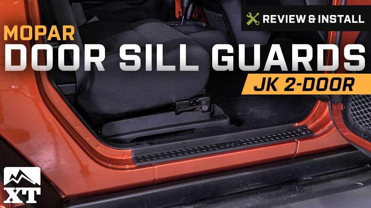 Jeep Wrangler Mopar Door Sill Guards W Jeep Logo 2007 2017 Jk 2