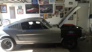 1965 Mustang Fastback with no exhaust pipes mufflers