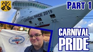 Carnival Pride Cruise Vlog 2019 - Part 1: Baltimore, Journeys Cruise, Embarkation Day - ParoDeeJay