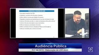 Audiência Pública 16/07/2019 - Orçamento 2020 (diretrizes orçamentárias)