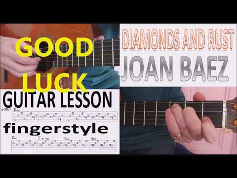 DIAMONDS AND RUST - JOAN BAEZ fingerstyle GUITAR LESSON