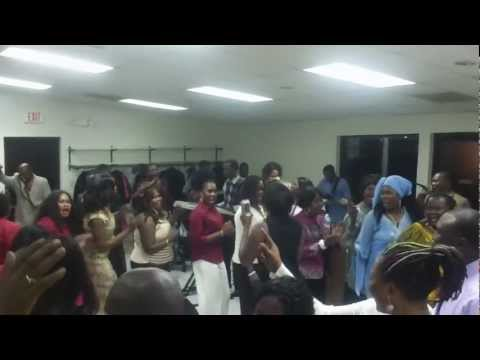 Southern Sudanese are praising and worshipping in Kansas City MO/ posted by Marlesh Mbory