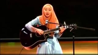 Subhanallah !! Cewek Jilbab Ini Nyanyi Kun Anta Humood AlKhuder Plus Main Gitar Akustik Cover