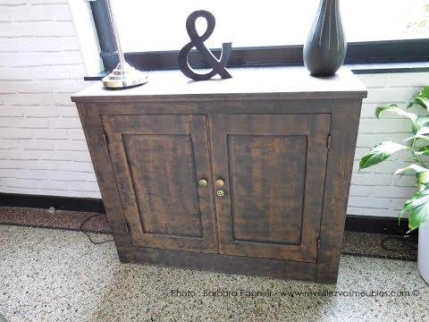 Réaliser un effet rouille sur un meuble en bois