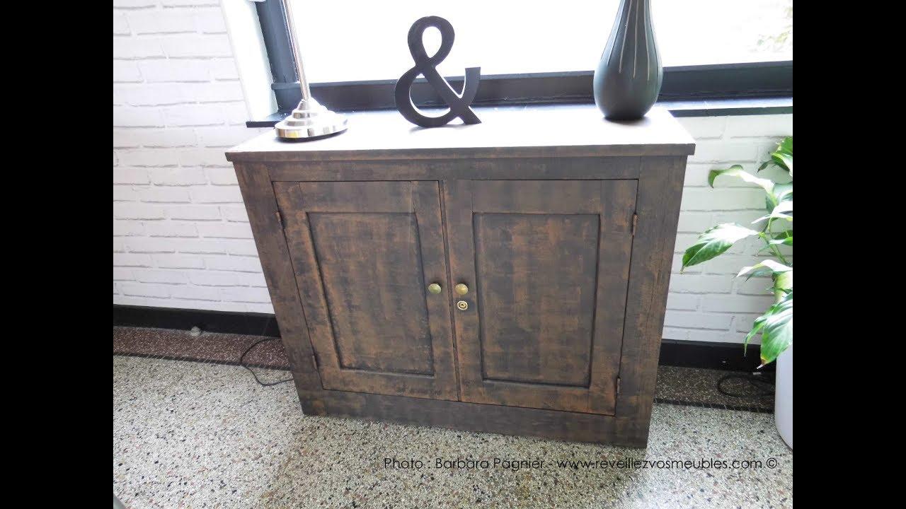 realiser un effet rouille sur un meuble en bois
