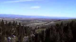 SYMA X5sc-1 Quadcopter Above the Treetops in Waha Idaho
