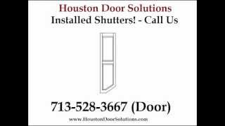 Window Louvers Installed Houston - 713-528-3667 (door) - Houston Door Solutions