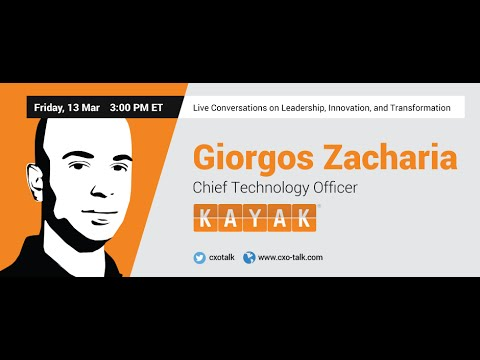#102: CXO-Talk: Data, Machine Learning, and User Experience with Giorgos Zacharia, CTO, Kayak